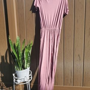 Cents of Style pink romper long euc